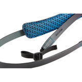 4V Design Classic Medium Neck Strap Tuscany Leather Black/Cyan - thumbnail 2