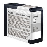Epson Inktpatroon T580900 - Light Light Black/Licht Licht Zwart (Pro 3800/3880) (origineel) - thumbnail 1