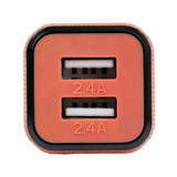 Caruba Duo USB Car charger 4.8A Zwart/Rood - thumbnail 2