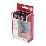Caruba Duo USB Car charger 4.8A Zwart/Rood - thumbnail 3