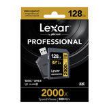 Lexar SDXC Pro 2000x 128GB 300MB/s UHS-2 SD-kaart - thumbnail 2