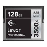 Lexar 128GB CFast Professional 2.0 3500x 525MB/s geheugenkaart - thumbnail 1