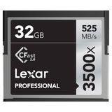 Lexar 32GB CFast Professional 2.0 3500x 525MB/s geheugenkaart - thumbnail 1