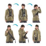Miggo Strap and Wrap harnas voor verrekijker - Zwart / Blauw - thumbnail 2