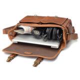 ONA The Brixton Leather Cognac Messenger Bag - thumbnail 6