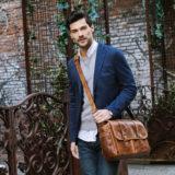 ONA The Brixton Leather Cognac Messenger Bag - thumbnail 7
