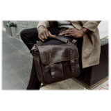 ONA The Prince Street Leather Dark Truffle Messenger Bag - thumbnail 8