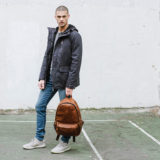 ONA The Clifton Leather Antique Cognac Backpack - thumbnail 8