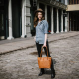 ONA The Capri Leather Antique Cognac Shoulder Bag - thumbnail 7