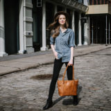 ONA The Capri Leather Antique Cognac Shoulder Bag - thumbnail 8