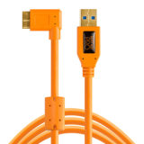 Tether Tools ThetherPro USB 3.0 A Male to Micro-B Right Angle 30cm Oranje - thumbnail 2