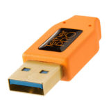 Tether Tools ThetherPro USB 3.0 A Male to Micro-B Right Angle 30cm Oranje - thumbnail 5