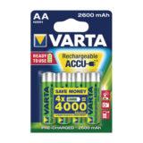 Varta Ready2Use oplaadbare AA-batterijen - 4 stuks (2600mAh)