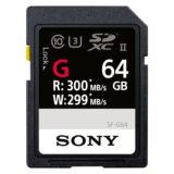 Sony 64GB SDXC G-Series UHS II 300MB/s geheugenkaart - thumbnail 1