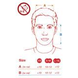 Caruba Pro Full Face Snorkelmasker L/XL Zwart/Rood - thumbnail 3