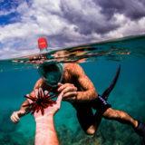 Caruba Pro Full Face Snorkelmasker L/XL Zwart/Rood - thumbnail 6