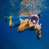 Caruba Pro Full Face Snorkelmasker L/XL Zwart/Rood - thumbnail 9