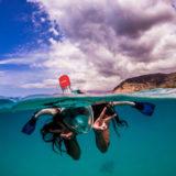 Caruba Pro Full Face Snorkelmasker S/M Zwart/Rood - thumbnail 7