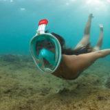 Caruba Pro Full Face Snorkelmasker S/M Zwart/Rood - thumbnail 8