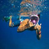 Caruba Pro Full Face Snorkelmasker S/M Zwart/Rood - thumbnail 9