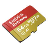 SanDisk 64GB Micro SDXC Extreme U3 V30 A1 100MB/s Action Cam geheugenkaart + adapter - thumbnail 4