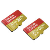 SanDisk 2x 32GB Micro SDHC Extreme V30 A1 Action Cam geheugenkaart + adapter - thumbnail 4