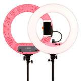 Caruba Round Vlogger LED set 18 inch Roze - thumbnail 3