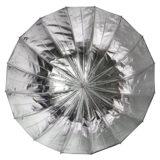 Caruba Deep Umbrella Zilver/Zwart 85cm - thumbnail 2