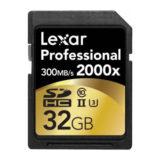 Lexar SDXC Pro 2000x 32GB 300MB/s UHS-2 SD-kaart - thumbnail 2
