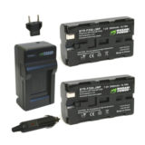 Wasabi Power Sony NP-F330, NP-F530 Accu en Lader Kit