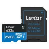 Lexar High-Performance 256GB 633x UHS-I Micro SDXC kaart + adapter - thumbnail 2