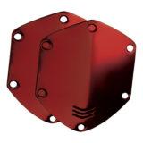 V-Moda Over-Ear Shield Plates Matte Red - thumbnail 1