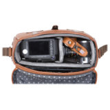Barber Shop Small Messenger Pageboy Grained Black Leather - thumbnail 4
