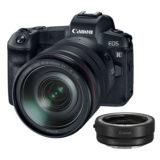 Canon EOS R systeemcamera Zwart + RF 24-105mm f/4.0L + EF-adapter