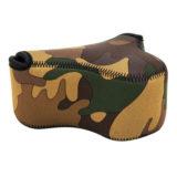 JJC OC-S2YG Neoprene Mirrorless Camera Pouch Camouflage Bruin - thumbnail 1