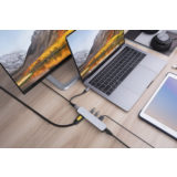 Hyper 6-in-1 USB-C hub with 4K HDMI Silver - thumbnail 2