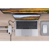 Hyper 8-in-1 Slim USB-C hub Silver - thumbnail 3