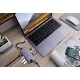 Hyper 8-in-1 Slim USB-C hub Space Gray - thumbnail 2