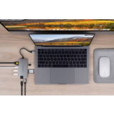 Hyper 8-in-1 Slim USB-C hub Space Gray - thumbnail 3