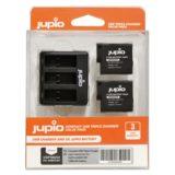 GoPro Triple Battery Charger + 2x Battery voor Hero, 5, 6 en 7 (Merk Jupio) - thumbnail 1