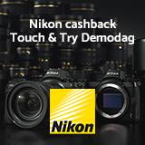 Nikon Cashback Touch & Try Demodag