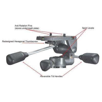Gitzo G2270M statiefkop (Low-Profile Serie 2)