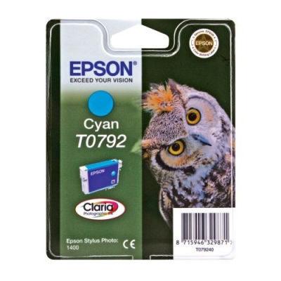Epson Inktpatroon T0792 - Cyan/Cyaan (R1400) (origineel)
