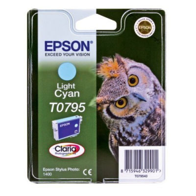 Epson Inktpatroon T0795 - Light Cyan/Licht Cyaan (R1400) (origineel)