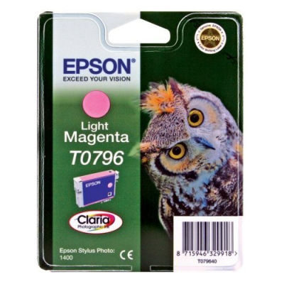 Epson Inktpatroon T0796 - Light Magenta/Licht Magenta (R1400) (origineel)