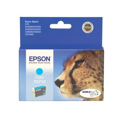 Epson Inktpatroon T0712 Cyan/Cyaan (origineel)