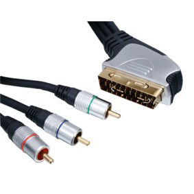HQ SCART-3RCA (Component) Kabel 1.5m High Quality