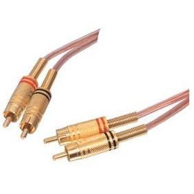 2 x Tulp (RCA)  naar 2 x Tulp (RCA) 5m (Gold Plated)