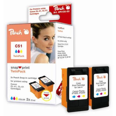 Peach C51 TwinPack (Snap 'n Print)