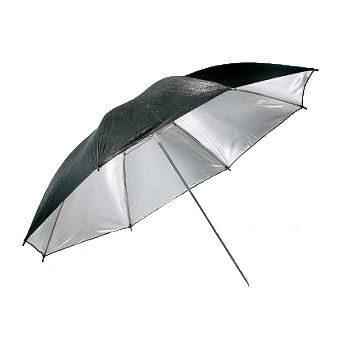 Visico Paraplu UB-003 Zwart/zilver 110cm (11749)